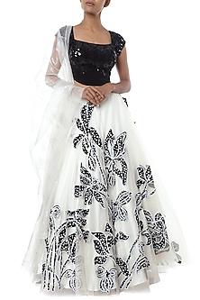Black and white embroidered lehenga set by Masaba