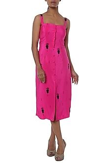 Pink printed shift dress by Masaba
