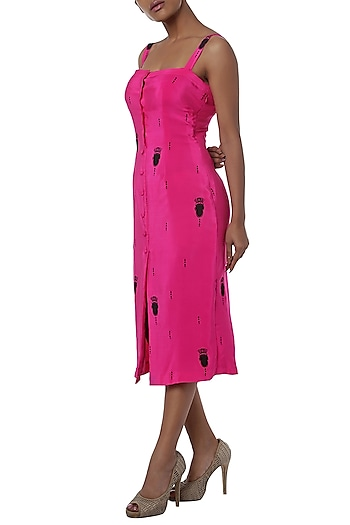 Pink printed shift dress by Masaba