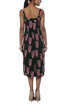 Green printed shift dress by Masaba