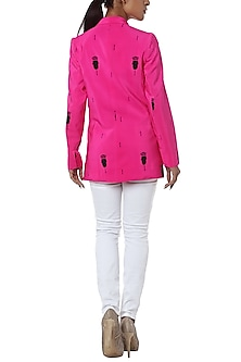 Pink printed blazer by Masaba