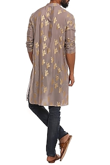 Grey Ganesha Kurta by Masaba Men