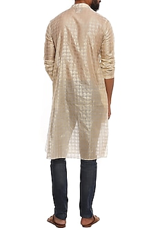 Ivory Corn Stamp Kurta by Masaba Men