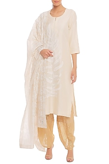 White Blooming Garden Printed Kurta Set by Masaba