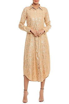 Beige Blooming Garden Printed Shirt Dress by Masaba