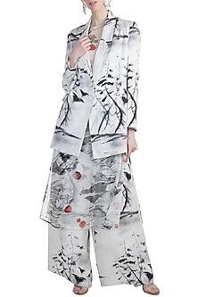 White Raven Flight Baggy Blazer Set by Masaba X GOT