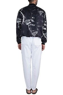 Black & White Monochrome Tangled Haven Jacket With Pants by Masaba Men X GOT