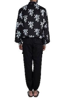 Black & White Lannister Sigil Bomber Jacket With Pants by Masaba Men X GOT