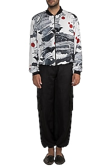 Ivory Westeros Wrath Bomber Jacket by Masaba Men X GOT