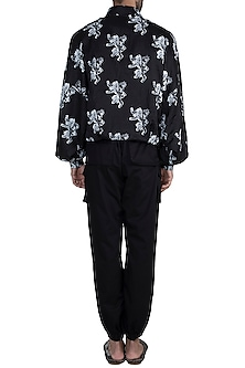 Black Lannister Sigil Bomber Jacket by Masaba Men X GOT