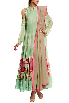 Mint Green Anarkali Set by Masaba
