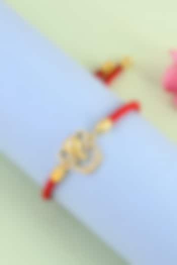 Gold Plated Ganesha Rakhi Bracelet by Matree Jewels