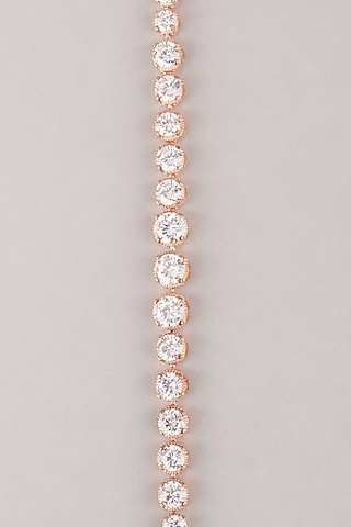 Rose Gold Finish Bracelet In Sterling Silver by Mon Tresor