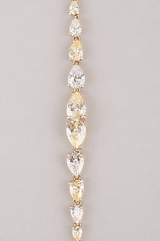 Gold Plated Tennis Bracelet In Sterling Silver by Mon Tresor