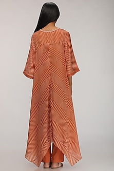 Rust Orange Printed Kurta Dress by Myoho