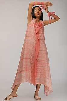 Peach Dip-Dyed Cowl Kurta by Myoho