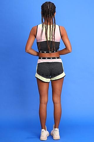 White & Black Shorts by Myriad