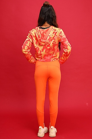 Orange Sports Leggings by Myriad