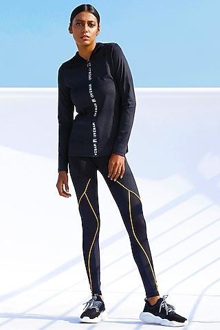 Black Reflective Print Pants by Myriad