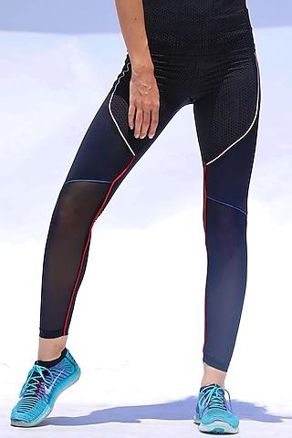 Black Printed High-Rise Pants by Myriad