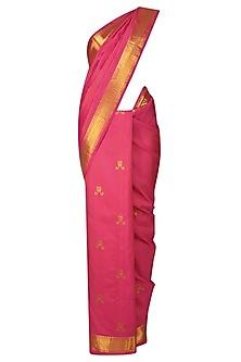 Rani Pink Cute Bunny Motifs Kanchipuram by Madhurya