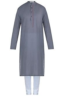 Grey kurta with pants by Mayank Modi