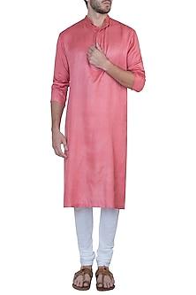 Pink kurta with pants by Mayank Modi