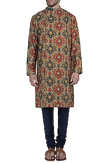 Multicolor printed kurta with pants by Mayank Modi