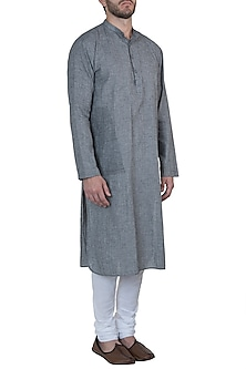 Grey kurta with pyjama pants by Mayank Modi