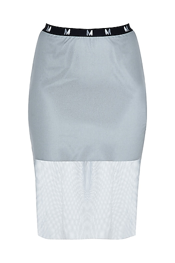 Grey slit skirt by Myriad