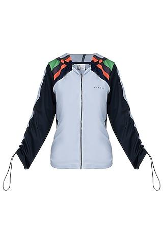 White polyester jacket by MYRIAD