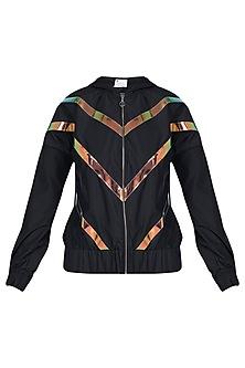 Black hoodie jacket by MYRIAD