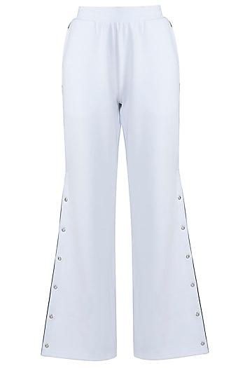 White wide cut pants by MYRIAD