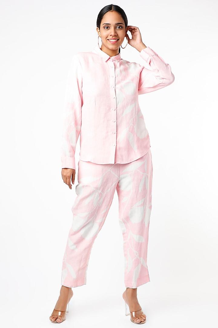 Blush Pink Digital Printed Pant Set by Naav by Avneet