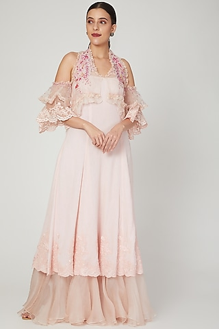 Peony Pink Halter Dress by Naffs