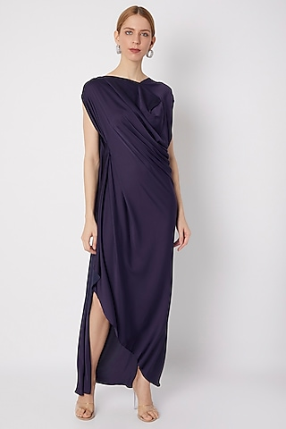 Violet Draped Gown by Na-ka