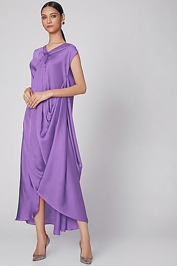 Lilac Draped Cowl Dress by Na-Ka