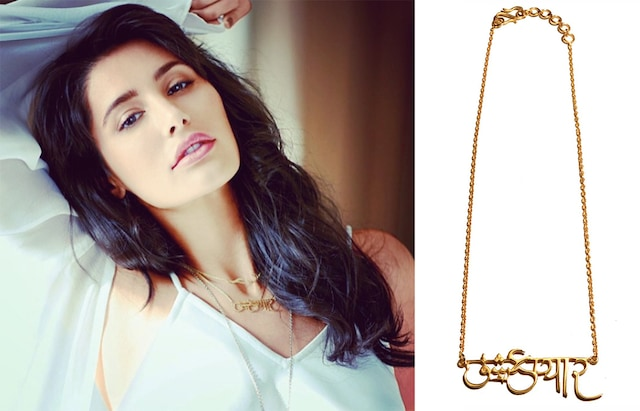 Urdu and hindi love necklace by Eina Ahluwalia