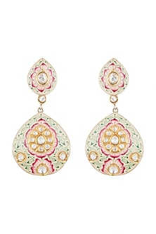 Gold Plated Meenakari Polki Earrings by Noorah By J