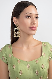 Gold Plated Temple Style Earrings by Noorah By J