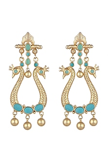 Gold Plated Kundan & Stones Earrings by Noorah By J