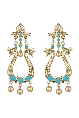 Gold Plated Kundan & Stones Earrings by Noorah By J