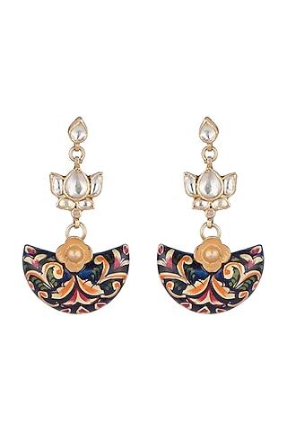 Gold Plated Meenakari Earrings by Noorah By J