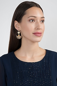 Gold Plated Meenakari Earrings by Noorah By J