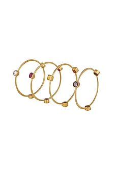 Gold Finish Openable Bangle by Nepra By Neha Goel