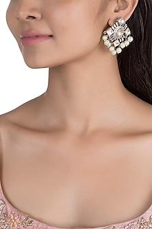 Gold Plated Kundan & Polki Earrings by Nepra By Neha Goel