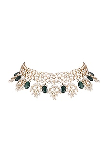 Gold Plated Polki & Kundan Necklace by Nepra By Neha Goel