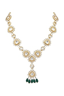 Gold Plated Emerald Choker Necklace by Nepra By Neha Goel