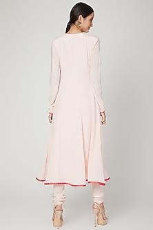 Blush Pink Embroidered Anarkali Set by Neha Chopra