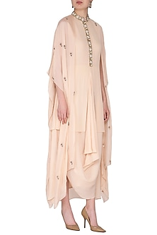Beige Embroidered Gown by Nidhika Shekhar